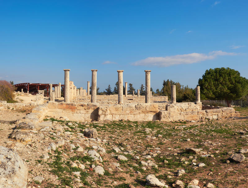 Le sanctuaire d'Apollo Hyllates en Chypre, Grèce images libres de droits