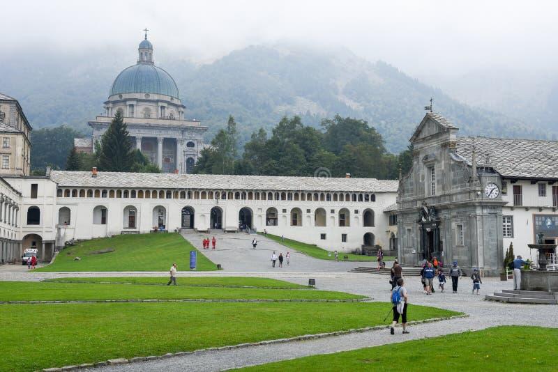 Le sanctuaire d'Oropa sur l'Italie, héritage de l'UNESCO photographie stock