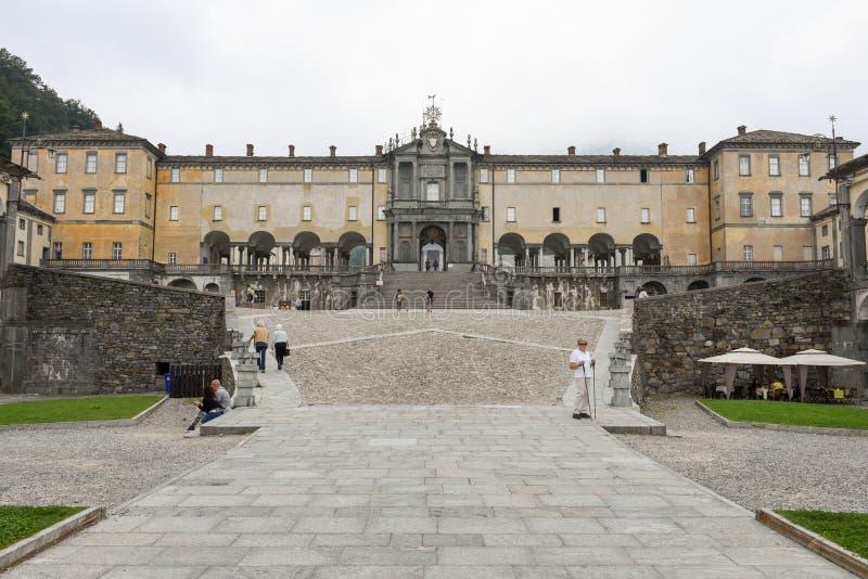 Le sanctuaire d'Oropa sur l'Italie, héritage de l'UNESCO photographie stock libre de droits