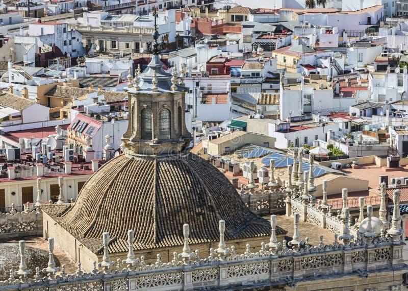 Le sanctuaire de la cathédrale (Iglesia del Sagrario) de Séville photo stock