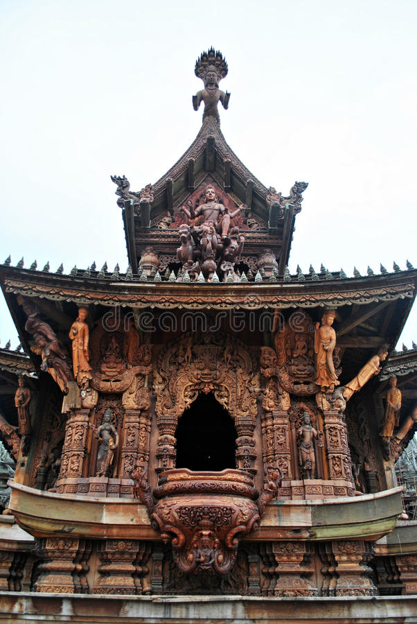 Le sanctuaire de la vérité Thaïlande photos libres de droits