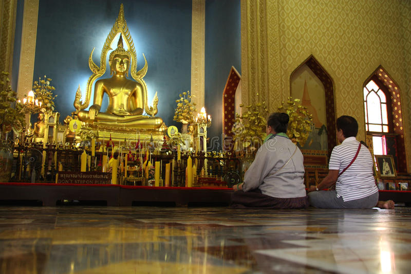 Le sanctuaire de marbre de temple, Bangkok, Thaïlande photo stock