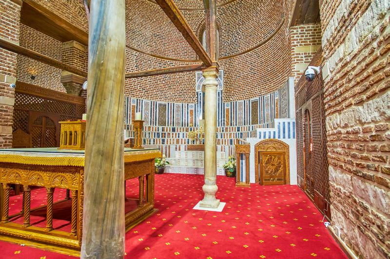 Le sanctuaire de St Barbara Church au Caire, Egypte photographie stock libre de droits