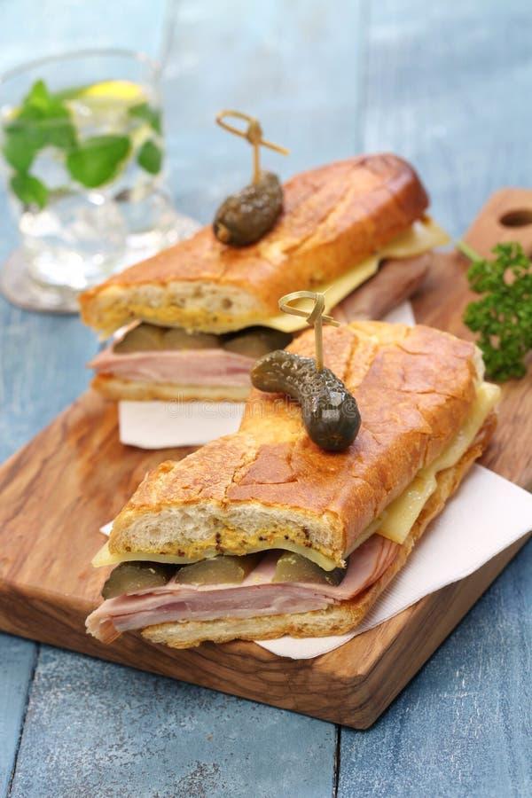 Le sandwich cubain, mélange cubain, Cubain a pressé le sandwich image stock