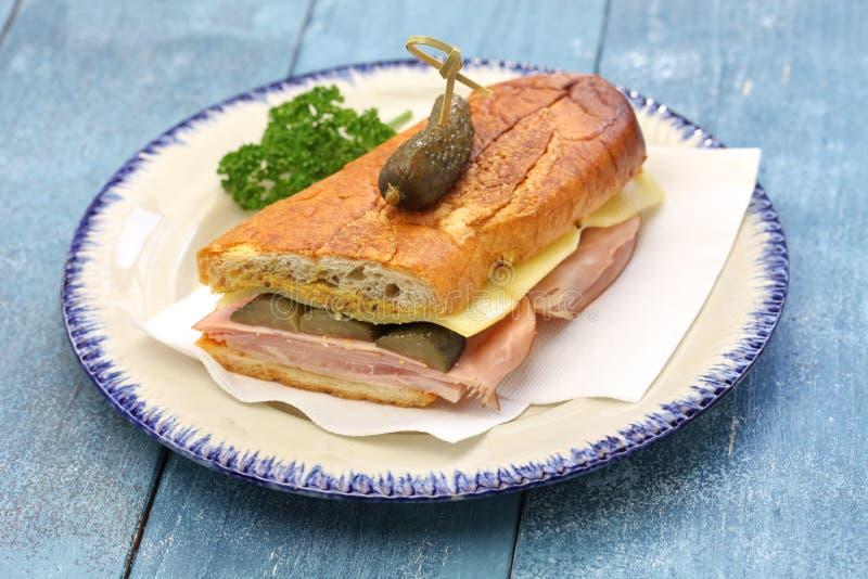 Le sandwich cubain, mélange cubain, Cubain a pressé le sandwich photo libre de droits