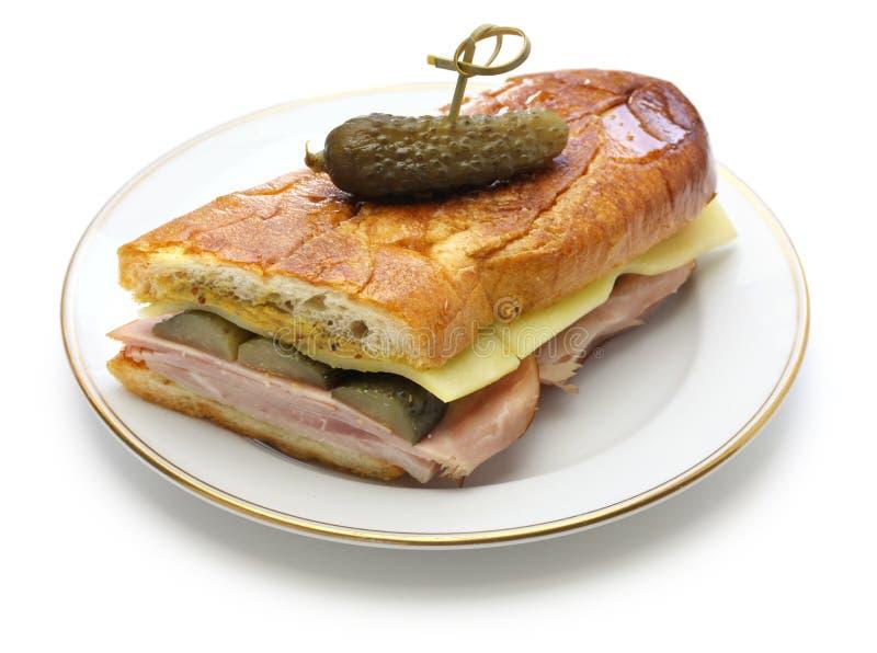 Le sandwich cubain, mélange cubain, Cubain a pressé le sandwich images stock