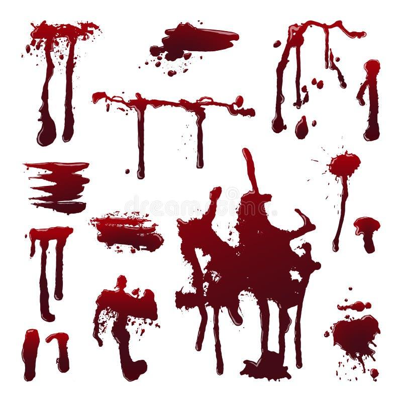 Le sang éclabousse illustration stock