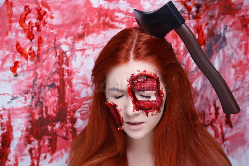 Le sang de femme composent photos stock