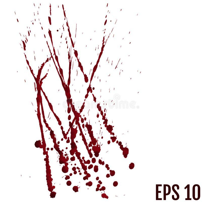 Le sang laisse tomber - criminalité et violence - le jet ensanglanté illustration de vecteur