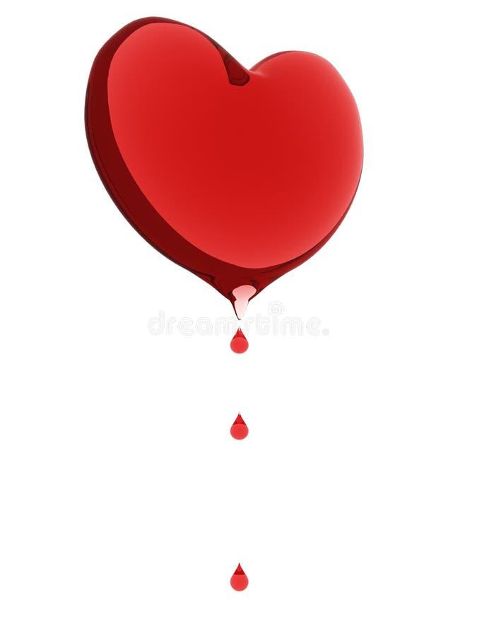 le sang relâche le coeur illustration libre de droits