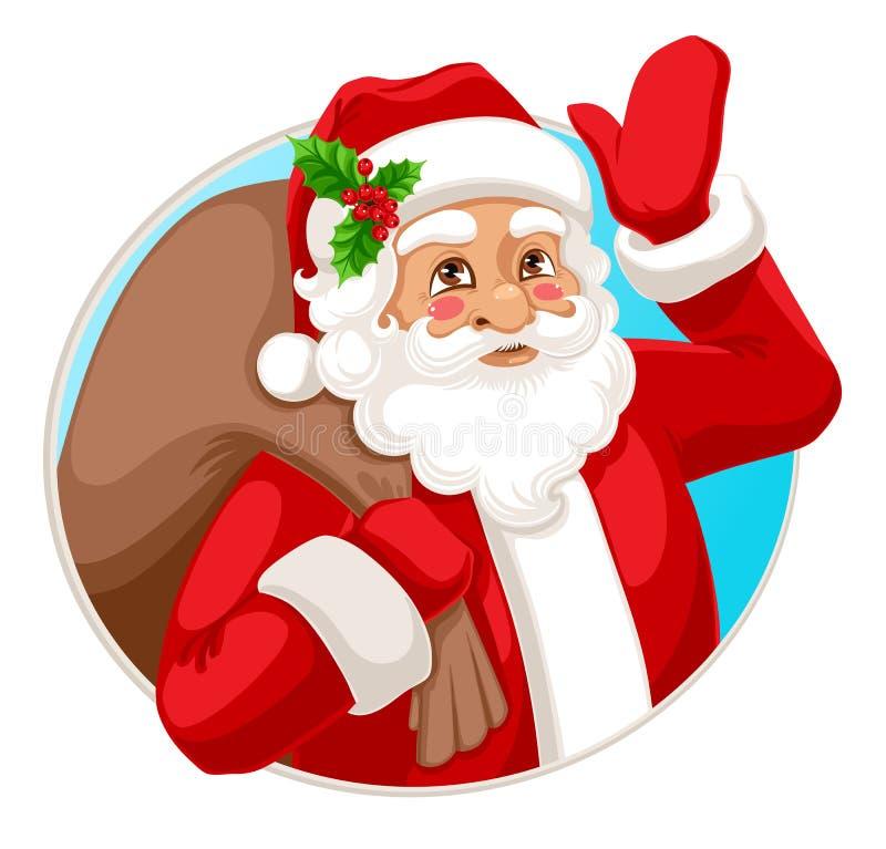 Le Santa Claus stock illustrationer