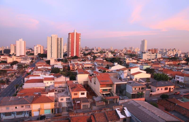Le sao Caetano font la ville de sul au Brésil photographie stock