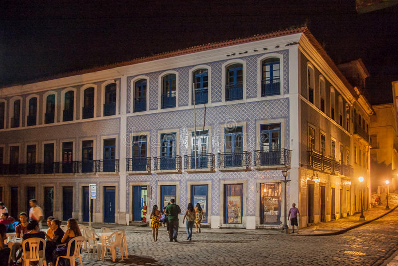 Le sao historique Luis de façade de bâtiment font Maranhao image stock