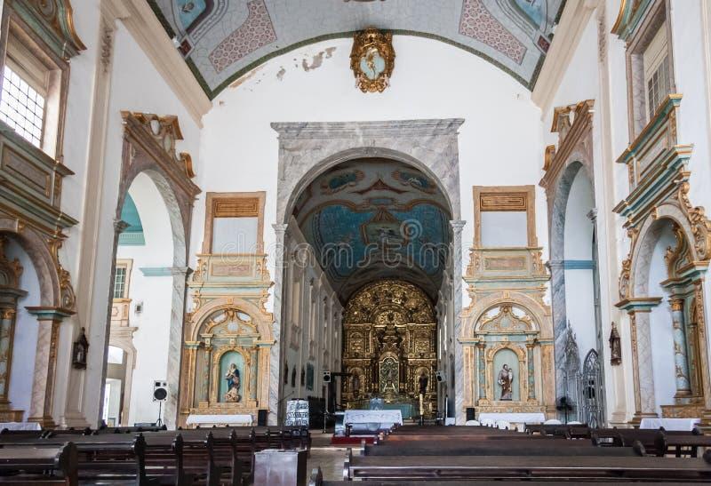 Le sao Luis d'église de Se font Maranhao Brésil images libres de droits