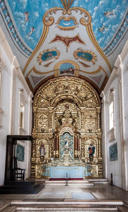 Le sao Luis d'église de Se font Maranhao Brésil photographie stock libre de droits