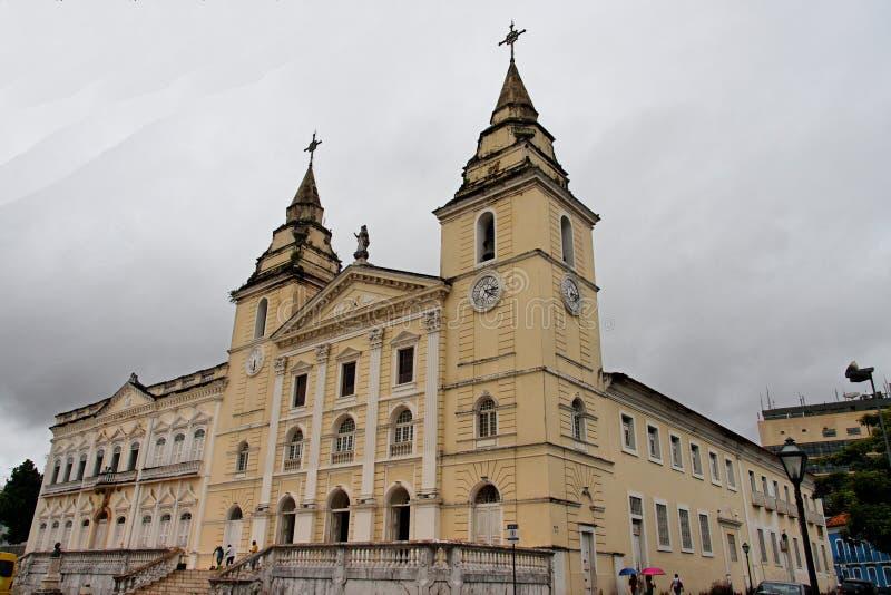 Le sao Luis font la cathédrale de Maranhao images libres de droits