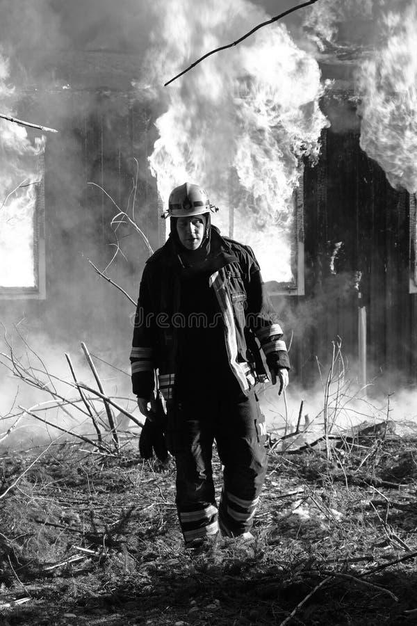 Le sapeur-pompier photographie stock libre de droits