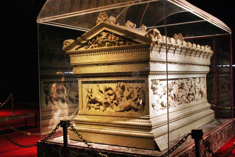 Le sarcophage de grand Alexandre image stock