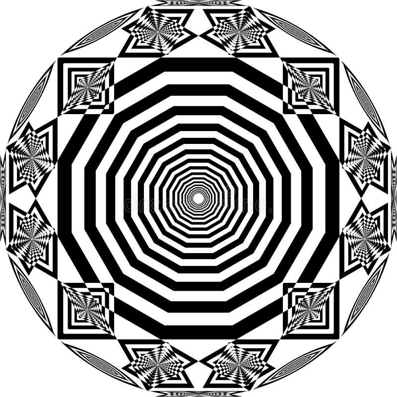 Le satellite circulaire de nid d'abeilles de cadran d'horloge a inspiré l'illustration coupée abstraite d'art déco de structure illustration stock