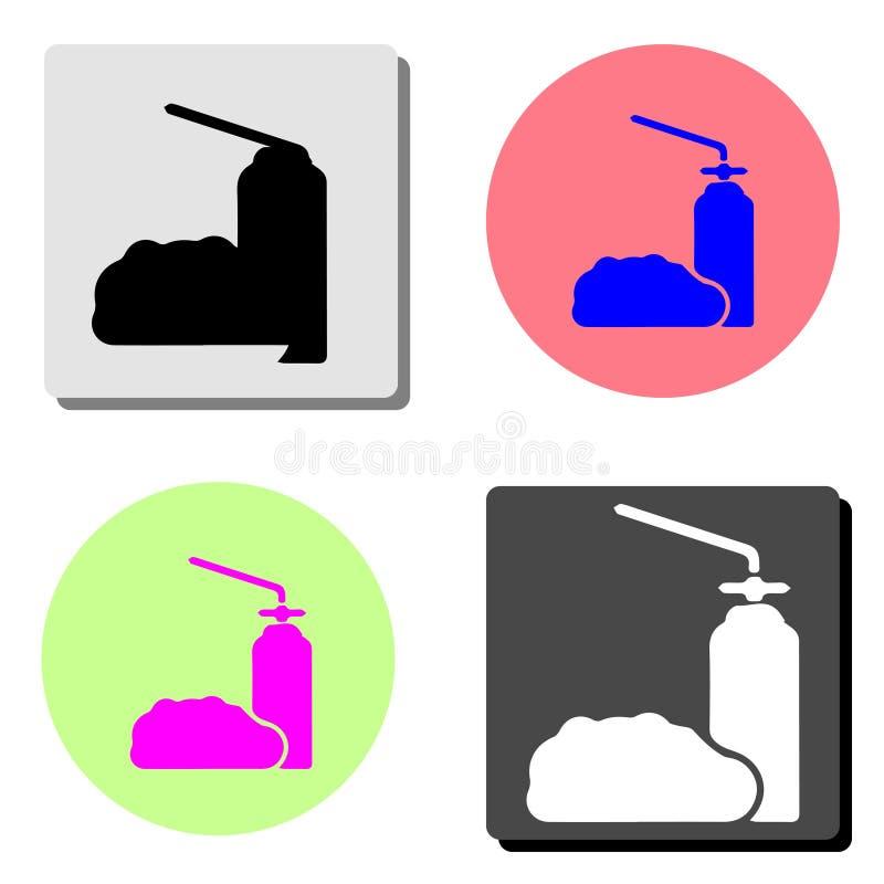 Le savon liquide, lotion, crème, gel de douche de shampooing Icône plate illustration libre de droits