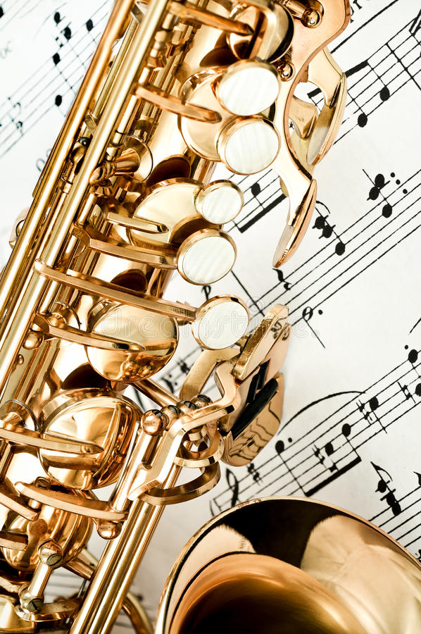 Le saxophone introduit le plan rapproch photo libre de droits