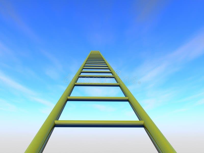 Le scale al cielo fotografia stock