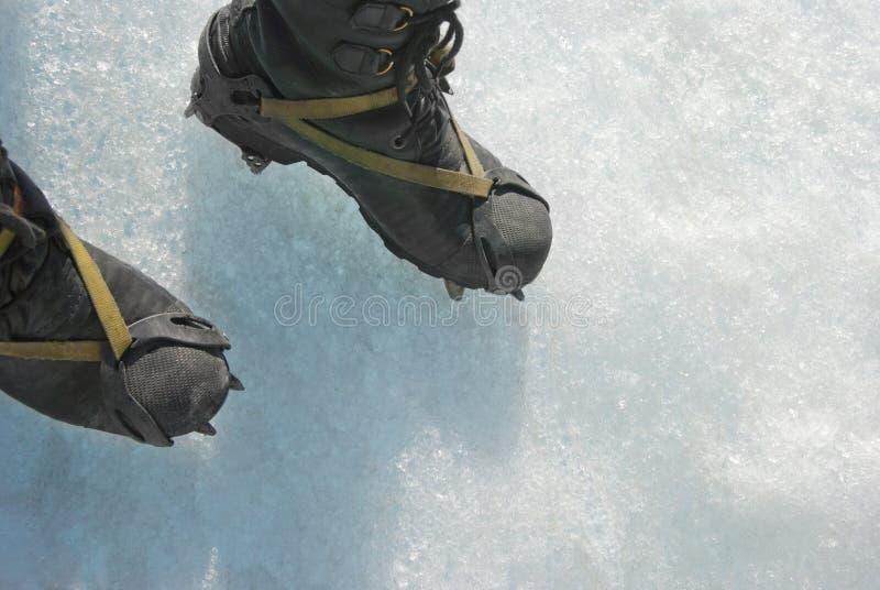 Scarpe con le punte su ghiaccio fotografia stock libera da diritti