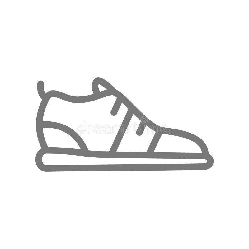 Le scarpe da corsa e le scarpe da tennis allineano l'icona illustrazione vettoriale