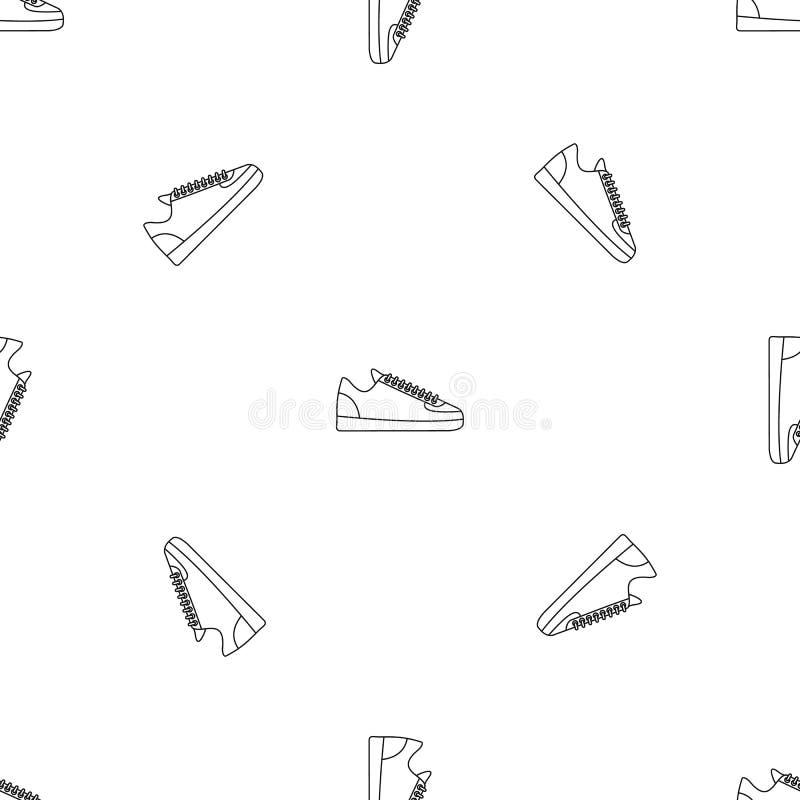 Le scarpe da tennis di colpo secco modellano il vettore senza cuciture royalty illustrazione gratis