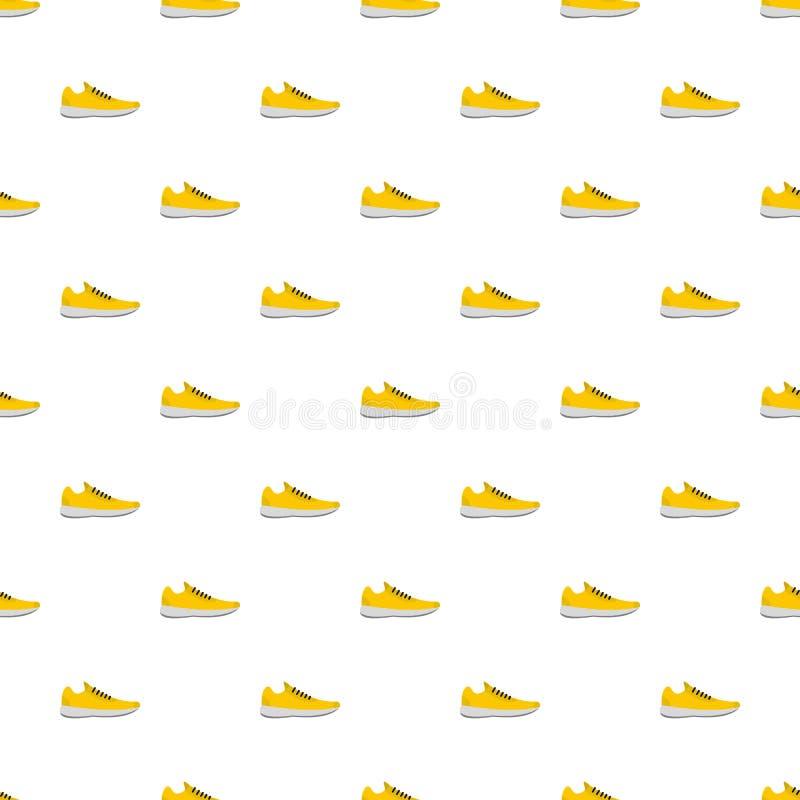 Le scarpe da tennis modellano senza cuciture illustrazione di stock