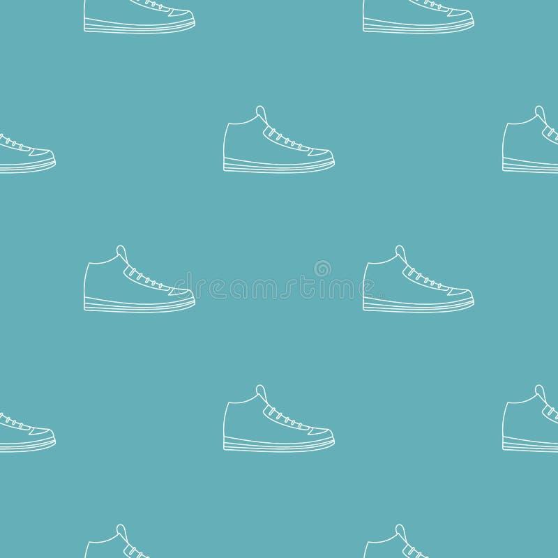Le scarpe da tennis modellano senza cuciture royalty illustrazione gratis