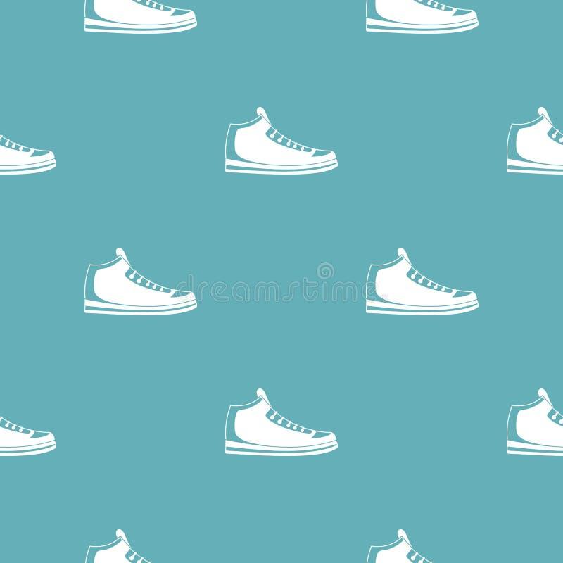 Le scarpe da tennis modellano senza cuciture illustrazione vettoriale