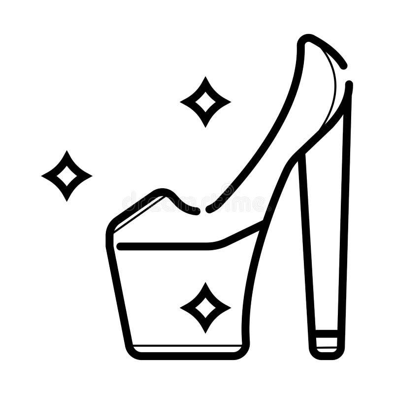 Le scarpe di signora allineano l'icona royalty illustrazione gratis