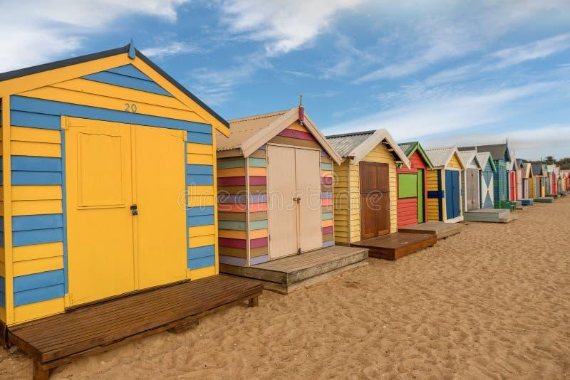 Le scatole di bagno Colourful a Brighton tirano a Melbourne, Australi immagini stock