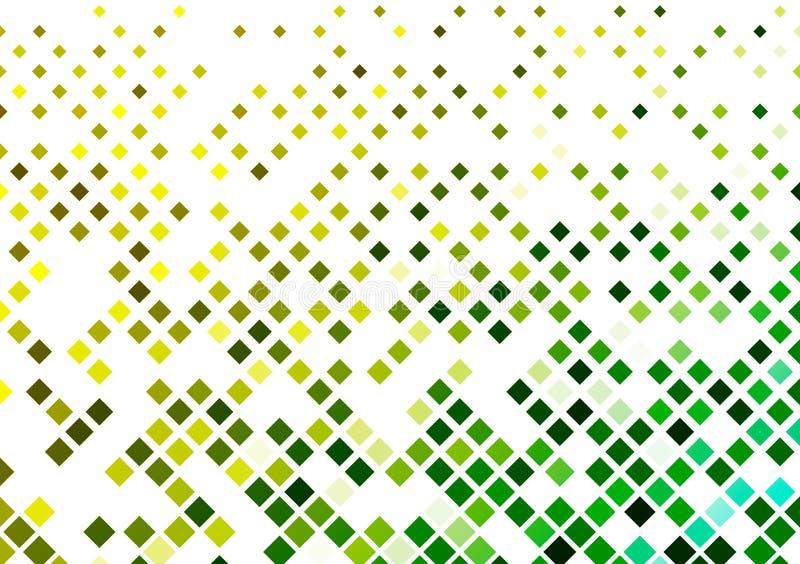 Le scatole gialle e verdi hanno modellato la progettazione del fondo illustrazione vettoriale