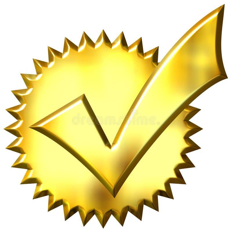 le sceau 3d d'or a fait tic tac illustration libre de droits