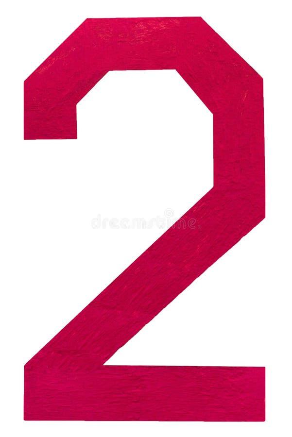 Le sch?ma deux, 2, a peint rouge L'espace cr?atif Peignez l'?claboussure photographie stock libre de droits