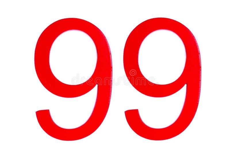 Le schéma rouge quatre-vingt-dix-neuf sur le fond blanc illustration stock