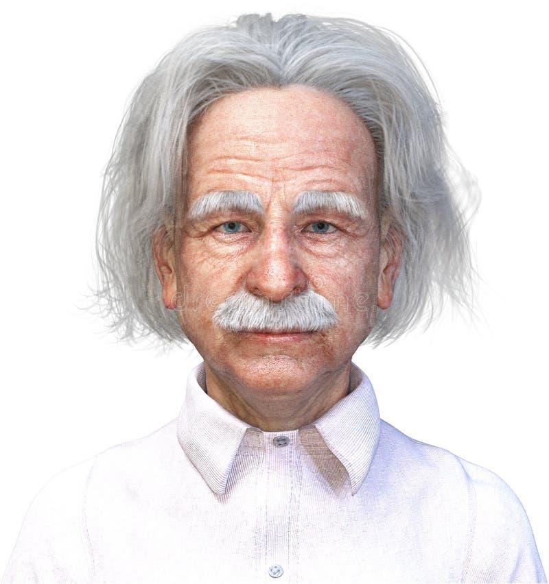 Le scientifique d'Einstein, la Science, génie, a isolé illustration libre de droits
