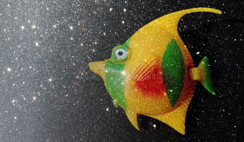 Le scintillement a donné au calibre une consistance rugueuse abstrait de fond de poissons, conception de calibre de graphiques illustration stock