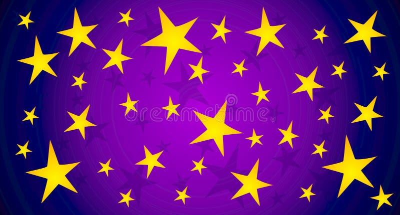 Le scintillement Stars le fond de ciel illustration stock