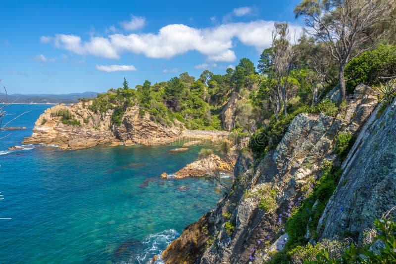 Le scogliere dell'Eden spettacolare, Australia fotografia stock libera da diritti