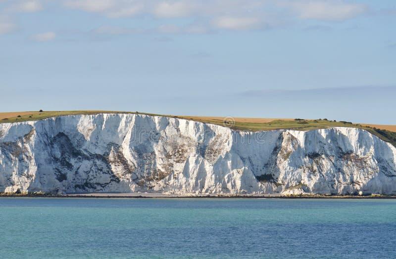 Le scogliere di gesso si avvicinano a Dover fotografia stock