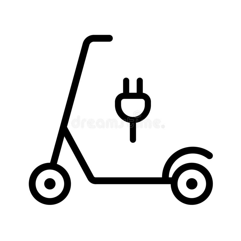 Le scooter exige l'électricité de remplissage illustration de vecteur