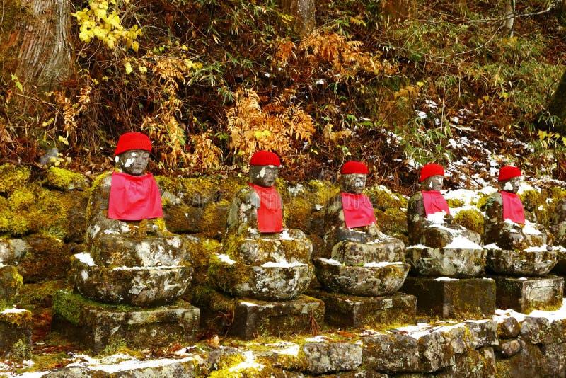 Le sculture di Ksitigarbha a Nikko fotografie stock libere da diritti