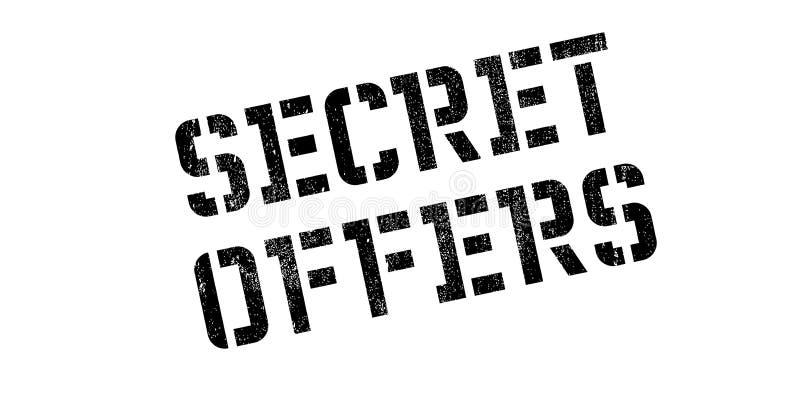 Le secret offre le tampon en caoutchouc photo libre de droits
