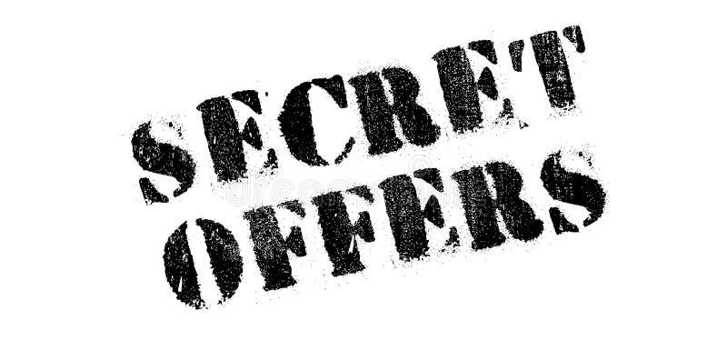 Le secret offre le tampon en caoutchouc photo stock