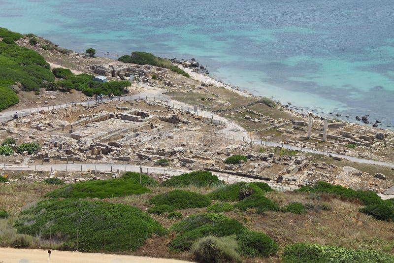Le secteur archéologique de Tharros en Sardaigne Italie image stock