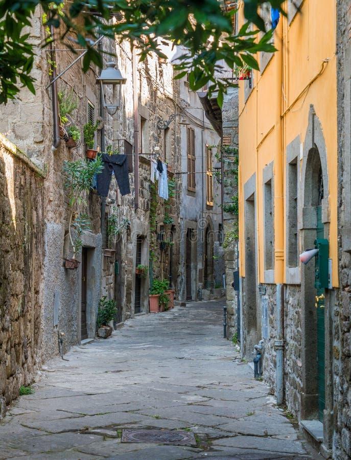 Le secteur médiéval pittoresque de San Pellegrino à Viterbe, Latium, Italie centrale photographie stock