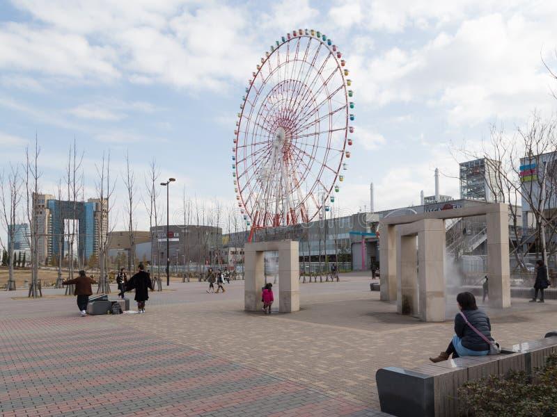 Le secteur piétonnier à Tokyo, Japon image stock